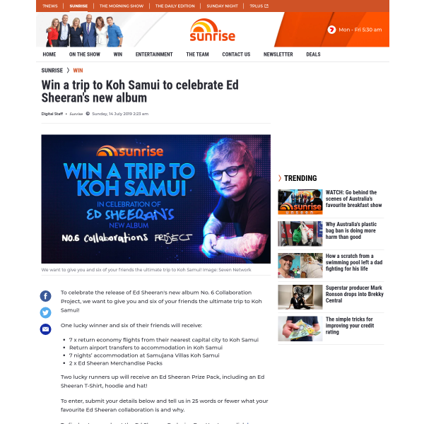Win a VIP Trip to Thailand