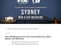 Win a VIP Weekend at the 'Gran Turismo World Tour 2020 – Sydney'