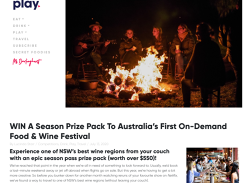 Win a Virtual Orange Winter Fire Festival Experience