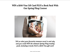 Win a VISA Gift Card & Six Books