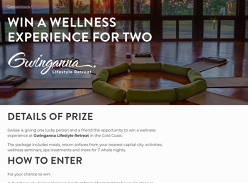 Win a wellness experience at Gwinganna Lifestyle Retreat in the Gold Coast!