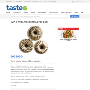 Win a Williams Sonoma prize pack