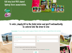 Win A year's supply of Nature's Gift dog food plus memorabilia