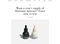Win a years supply of Hummm skincare!