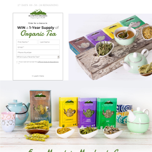 Win a Year's Supply of Organic Tea