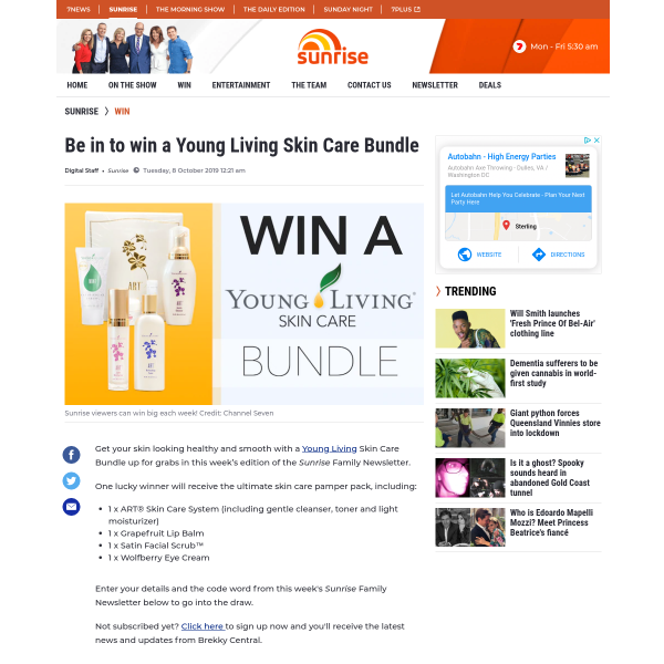 Win a Young Living Beauty Bundle