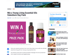 Win a Young Living Essential Oils Valentines Day Pack!
