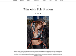 Win a Zebra set from P.E Nation