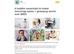 Win an $800 Toddler's Prize Pack