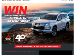WIN An Accessorised Top Spec Pajero Sport!