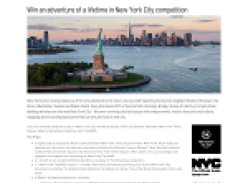 Win an adventure of a lifetime in New York City!
