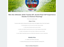 Win an AFL Grand Final VIP Experience for 2 or 1 of 17 Rugs