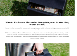 Win an Alexander Wang x Magnum Cooler Bag