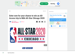 Win an All-Access Trip to NBA All-Star Chicago 2020 for 2