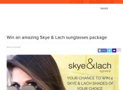 Win an amazing Skye & Lach sunglasses