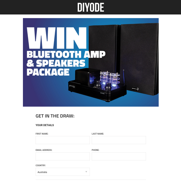 Win an Amp + Speakers Package