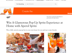 Win an Aperol Spritz-Inspired Home Party Pack for 10