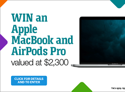 Win an Apple MacBook and AirPods Pro