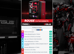 Win an ASUS ROG 10th Anniversary Edition Custom Gaming PC