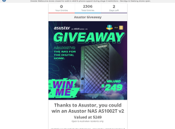 Win an Asustor AS1002T V2 NAS