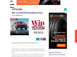 Win an Audi Driving Experience for 2 Worth $5,500 from