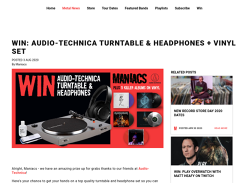 Win an AUDIO-TECHNICA TURNTABLE & HEADPHONES + VINYL SET