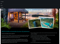 Win an Australian Survivor Fiji adventure