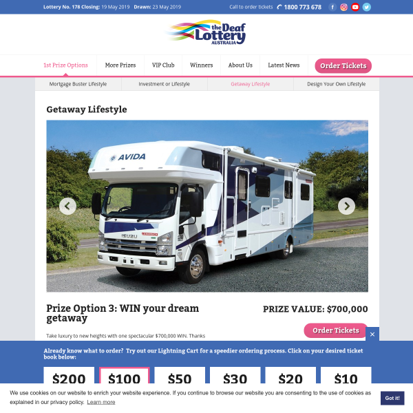 Deaf Lottery - Win an Avida Motorhome - Competitions com au