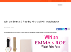 Win an Emma & Roe by Michael Hill Watch Pack