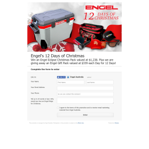 Win an Engel Eclipse Christmas Pack