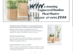Win an Engineered Bamboo Pleat Planter Over