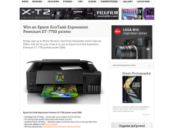 Win an Epson Ecotank Expression Premium ET-7750 Printer