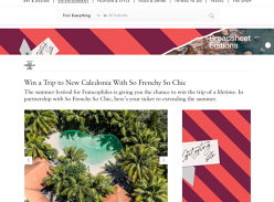 Win an Escape for 2 to New Caledonia