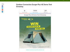 Win an Escape Plus 4E Dome Tent!