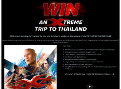 Win an extreme trip to Thailand!
