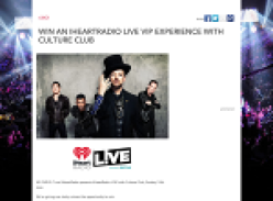 Win an iHeartRadio LIVE VIP experience with Culture Club!