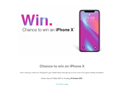 Win an iPhone X (64GB Space Grey)