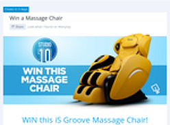 Win an iS Groove massage chair!