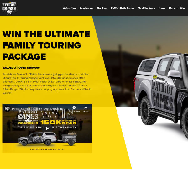 Win an Isuzu Car & Camper Trailer Combo