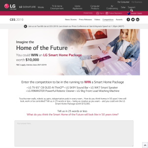 Win an LG Smart Home Package