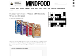 Win an O&G Crunchy Granola prize pack