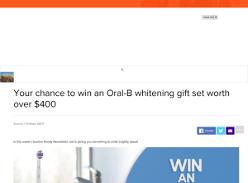 Win an Oral-B whitening gift set
