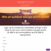 Win an outdoor escape worth $1,000 in accommodation and $1,000 in equipment