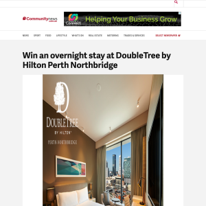 Win an overnight stay at DoubleTree by Hilton Perth Northbridge