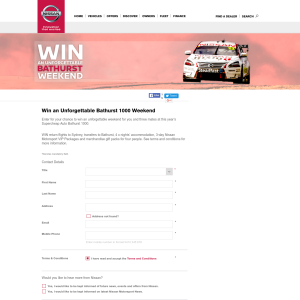 Win an unforgettable 'Bathurst 1000' weekend!