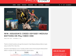 Win Assassin's Creed Odyssey Medusa Editions On PS4/Xbox One