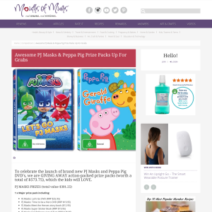 Win Awesome PJ Masks & Peppa Pig Prize Packs