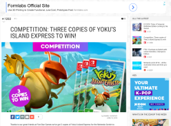 Win copies of Yoku's Island Express
