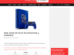 Win Days Of Play PS4 Console