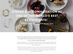 Win dinner and one night accomodation in Melbourne